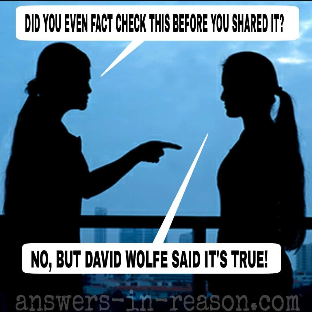 cofirmation bias conspiracy theorists fundamentalists and david wolfe