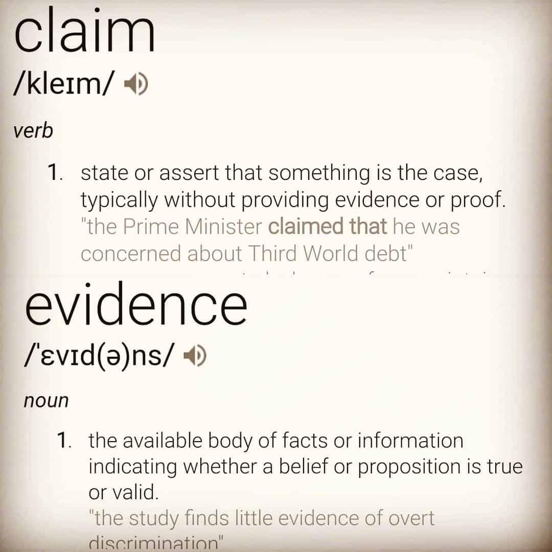 Claim vs Evidence