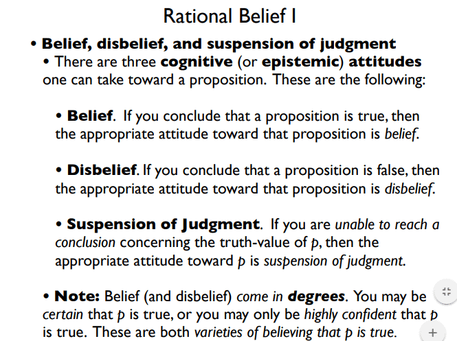 Rational Belief