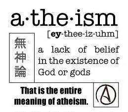 atheism - lack belief definition