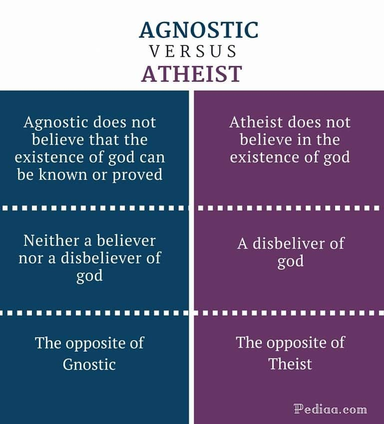 agnostic vs atheist polysemous definitions